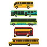 Côté d'autobus et vecteur de transport illustration stock