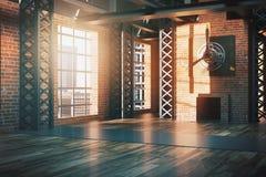Côté d'intérieur de style de hangar illustration libre de droits