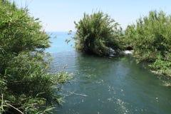 Côté d'Uper de la cascade de Duden à Antalya, Turquie Photographie stock