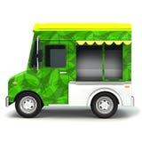 Côté de camion de nourriture verte d'Eco Photographie stock libre de droits