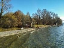 Côté de lac Ammersee Photos libres de droits