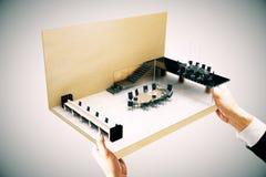 Côté de miniature de salle de conférence Photographie stock libre de droits