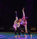 Côté de mouche - par - côté - danse moderne Image stock