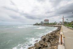 Côté de plage en Santo Domingo Photos stock