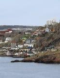 Côté de port de St.Johns, Terre-Neuve, Canada Photo libre de droits