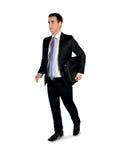 Côté de promenade d'homme d'affaires Image libre de droits