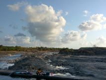 Côté de rivière Photo stock