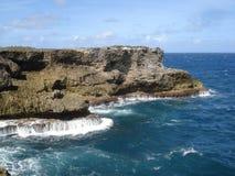 Côté du nord de l'île des Barbade Image stock