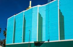 Côté du rétro bâtiment Photo libre de droits