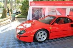 Côté et avant modernes de voiture de course de Ferrari photos libres de droits