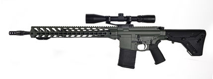 Côté gauche AR10 scoped Image stock