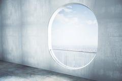 Côté intérieur concret abstrait illustration stock