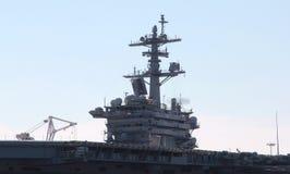 Côté Norfolk la Virginie de pilier de transporteur d'avions militaires Photos libres de droits