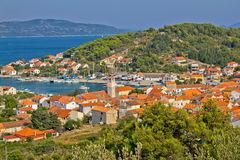 Côte adriatique - île de Veli Iz Images libres de droits