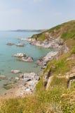 Côte Angleterre R-U des Cornouailles de plage de baie de Whitsand Photo libre de droits