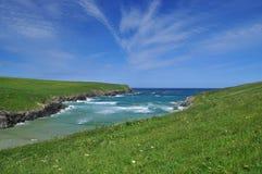 Côte atlantique du nord des Cornouailles, Angleterre, R-U photographie stock