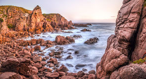 Côte australienne rocailleuse Photographie stock