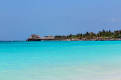 Côte bleue Zanzibar d'océan Photos stock