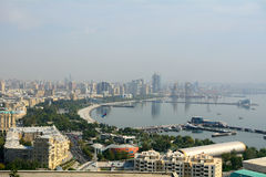 Côte caspienne, Bakou, Azerbaïdjan Photographie stock libre de droits