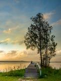 Côte centrale de longue de jetée réservation de lais, NSW Photographie stock