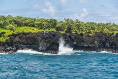 Côte chez Wai'anapanapa, Maui Images stock