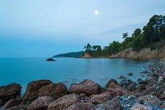 Côte d'île d'Evia Photo libre de droits