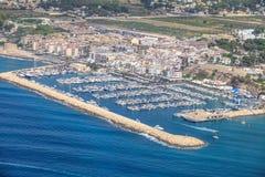 Côte d'Alicante, airview Côte de l'Espagne Photos stock