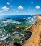 Côte d'Océan atlantique d'été Images libres de droits