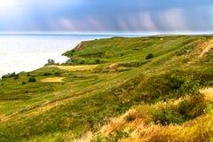 Côte d'Olbia, Ukraine Mer, herbe, pré, antiquité Images libres de droits