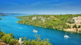 Côte dalmatienne Croatie Image stock