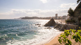 Côte dans Lloret De mars sur Costa Brava, Espagne photographie stock