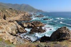 Côte de Big Sur, près de Monterey, la Californie, Etats-Unis Photos libres de droits