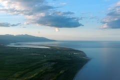 Côte de côté est de la Corse photographie stock libre de droits