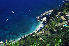 Côte de Capri Photos stock