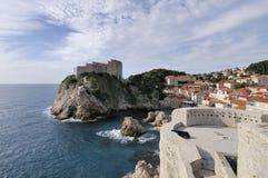 Côte de Dubrovnik, Croatie Images libres de droits