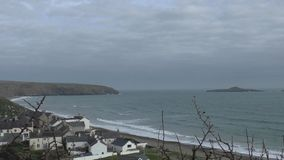 Côte de Gallois de vue de mer, Abersock clips vidéos