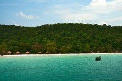 KOH Rong Samloem, Cambodge d'île Photos stock
