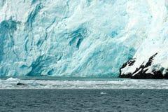 Côte de l'Alaska de l'océan pacifique d'écoulement de glace de glacier d'Aialik Photos libres de droits