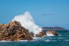 Côte de l'Océan Atlantique en Bretagne Photographie stock libre de droits
