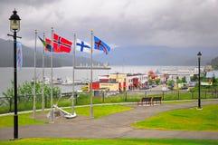 Côte de l'océan pacifique près de prince Rupert image libre de droits