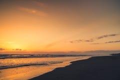 Côte de l'Orégon au coucher du soleil Image stock