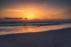 Côte de l'Orégon au coucher du soleil Photo libre de droits