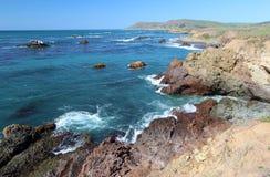 Côte de la Californie le long de la route une, Cayucos Photos libres de droits