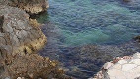 Côte de la Mer Adriatique banque de vidéos