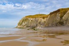 Côte de la Normandie avec les falaises blanches près du d'Opale de Cote, France Image libre de droits