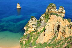 Côte de Lagos, Algarve au Portugal Photos libres de droits