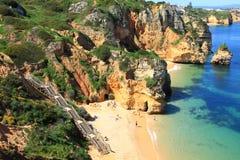 Côte de Lagos, Algarve au Portugal Photos stock