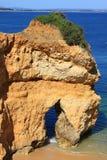 Côte de Lagos, Algarve au Portugal Images libres de droits