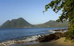Côte de Le Diamant Martinique Photos stock
