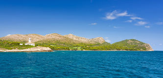 Côte de Majorca - vue de mer Photographie stock libre de droits